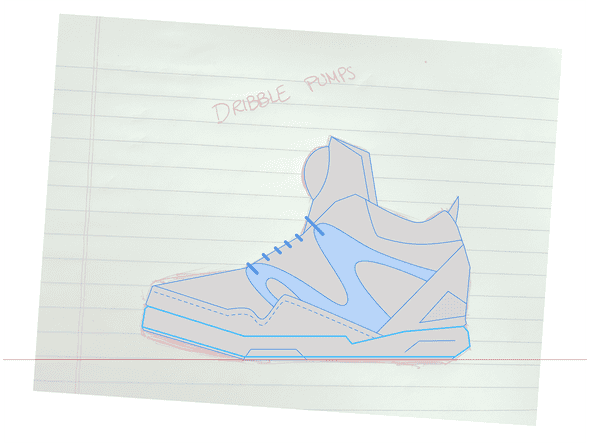 Reebok Pumps Initial Outlines